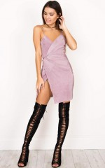 Everybody Talks Dress in Mauve