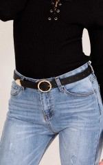Viral belt in black and gold