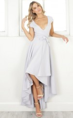 Chasing Forever dress in pale grey