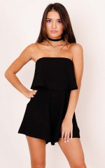 Cool Breeze playsuit in black