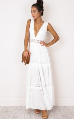 Thrills And Spills maxi dress in white