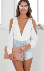 Boy Meets Girl bodysuit in white