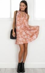 Nothing On You Dress in orange print