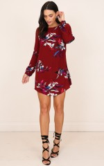 All About Me dress wine