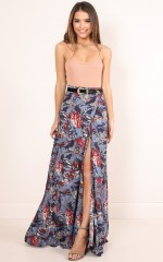 All Time maxi skirt in blue floral