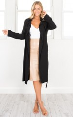 Indirect Trench Coat in black