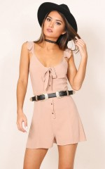 At The Start playsuit in taupe