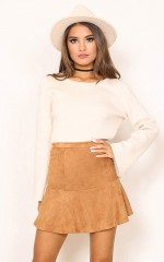 Know The Night Skirt in tan