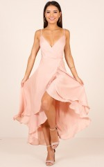 Bad Liar dress in blush