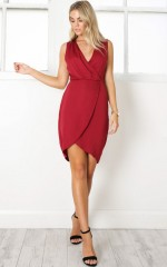 Be Here Dress in Wine
