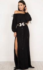 Behind You dress in black