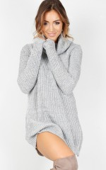 Below Zero Knit Dress in Grey