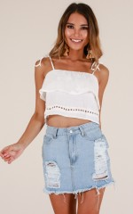 Between The Truth top in white