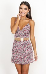 Nice Kiss dress in red floral