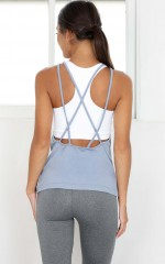 Both Ways 2 in 1 Top in Dusty Blue