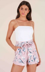 Brand New Day shorts in mauve floral