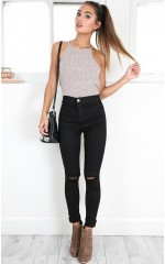Bella skinny jeans in black denim
