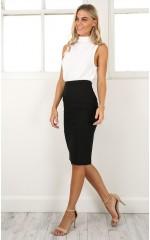 Claim It Back skirt in black