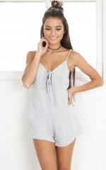 Butter Kisses playsuit in grey