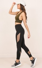 Called Up Tights in black