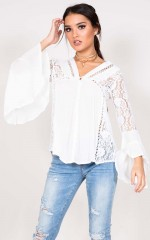 Castaway top in white