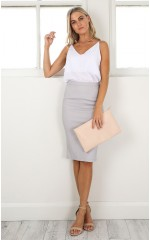 Claim It Back skirt in grey
