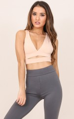City Sleeker crop top in nude