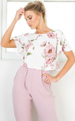 Coffee On Monday top in pink floral