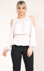 Concrete Jungle top in blush