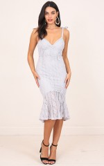 Diamond Dust Dress in Grey