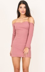 Disappearing Act dress in dusty pink