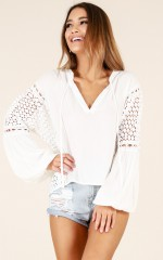 Dream Catcher top in white