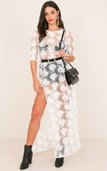 Dream Town Dress in White Lace