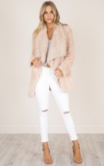 Driven Down coat in blush