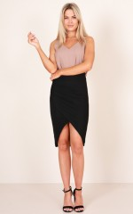 Day To Dusk skirt in black