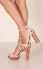 Billini - Easton Heels in nude nubuck