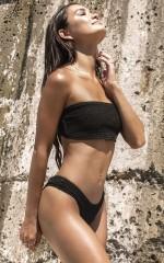 Mallory Bikini Top in Black
