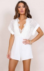 Echelon playsuit in white