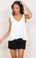 Flight Of Night top in white