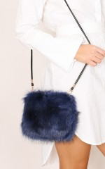Fluffy Dreaming purse in navy