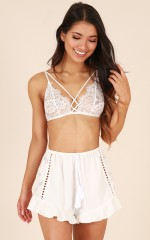 Flutter By Shorts in White