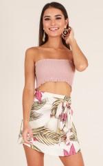 Forever Sunny skirt in beige floral