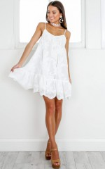 Fun Forever dress in white lace