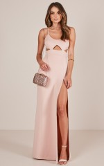 Girl Crush maxi dress in blush