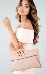 Girl Boss clutch in dusty pink
