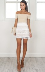 Girls Like Girls skirt in white crochet