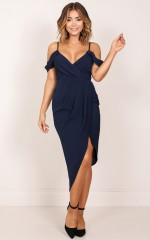 Give Me More dress in navy