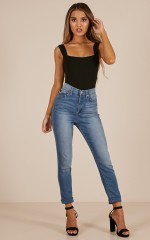 Heather skinny jeans in light wash