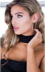 Honey hoop earrings in silver