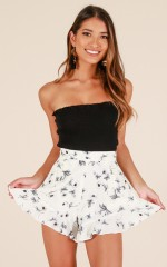 Holy Chic shorts in white floral